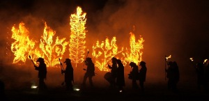 Imbolc fire display